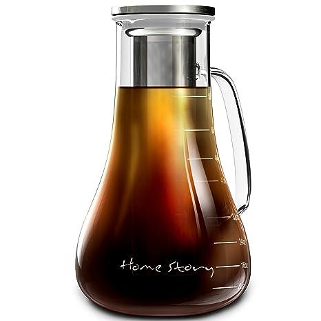 Amazon.com: Cafetera de frío – jarra de cristal para hacer ...