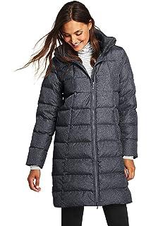 5f1a39c6357b Lands' End Women's Winter Long Down Coat with Faux Fur Hood, XS ...