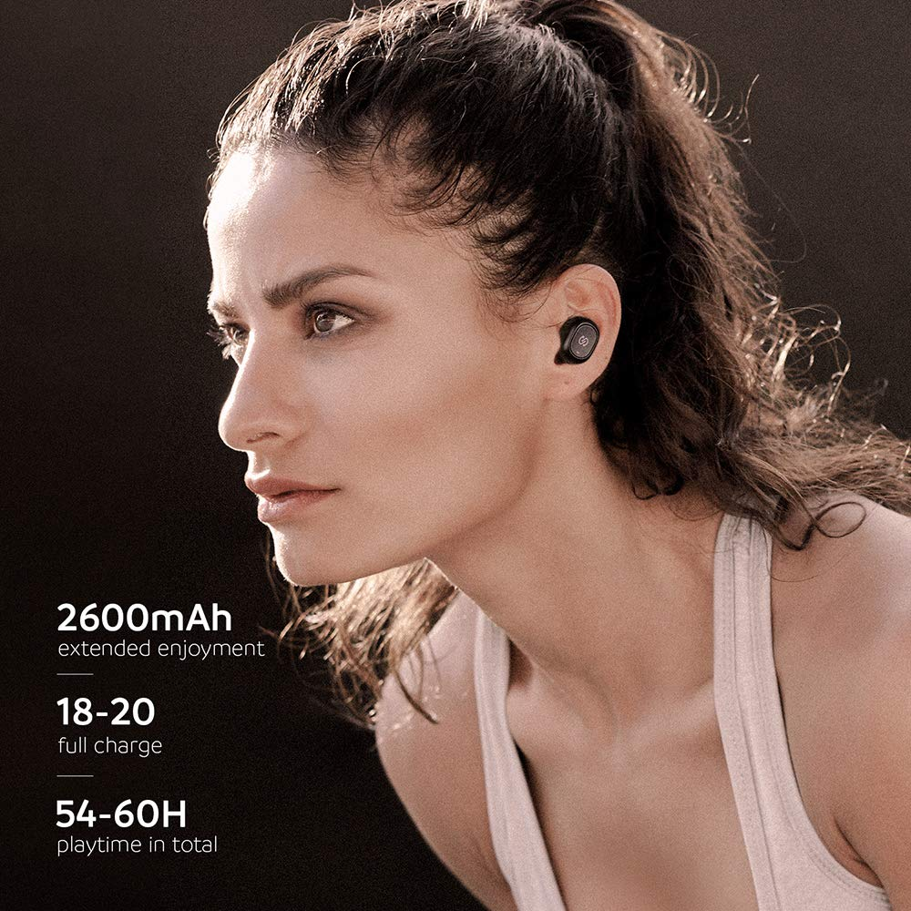 SoundPEATS True Wireless Bluetooth Earbuds in-Ear Stereo TWS Bluetooth Headphones Wireless Earphones (Bluetooth 5.0, 2600mAh Charging Case, 55 Hours Playtime, Built-in Mic) by SoundPEATS (Image #4)
