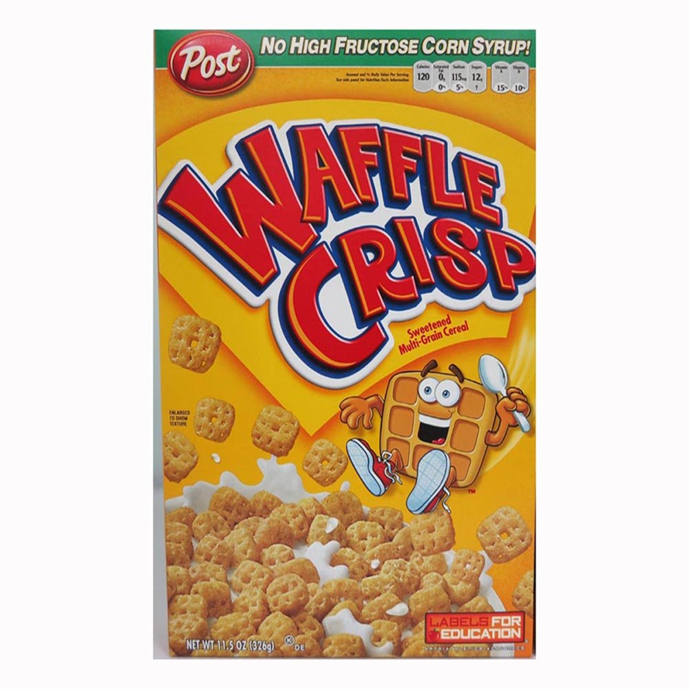 Post Waffle Crisp Cereal 11.5-Ounce Boxes (Pack Of 4