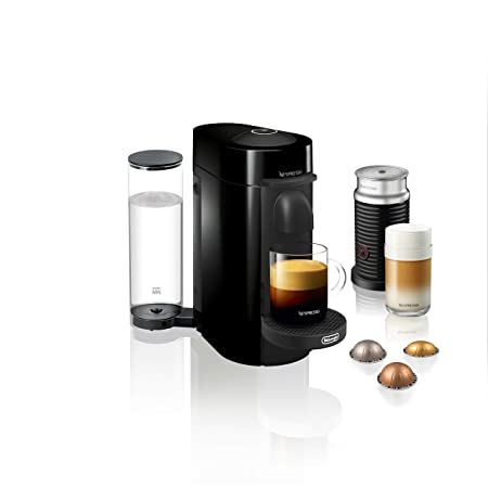 Paquete de cafetera Nespresso VertuoPlus con espumador de ...