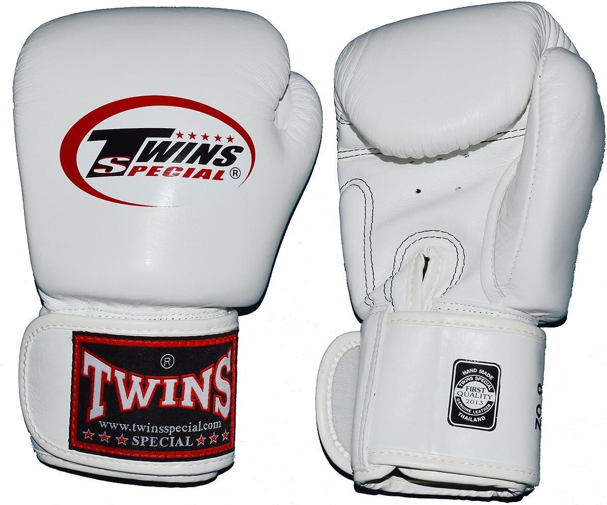 TWINS本革ボクシンググローブ 16オンス 白