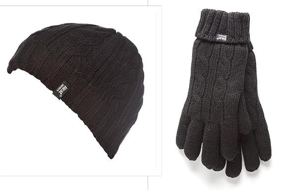 8114b4640df Ladies Ladies Heat Holders Heatweaver Thermal Winter Warm Hat   Gloves  (Small Medium)