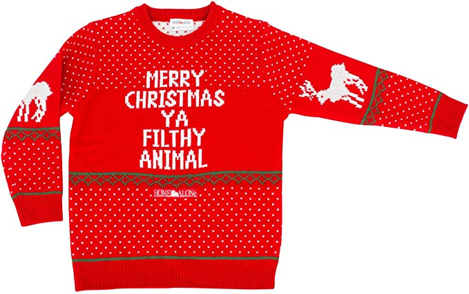 Merry Christmas Ya Filthy Animal Ugly Christmas Sweater Contest Party Xmas Youth Sweatshirt