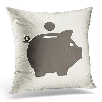 Golee Throw Pillow Cover Black Box Piggy Bank Icon Profit Sale Decorative Pillow Case Home Decor