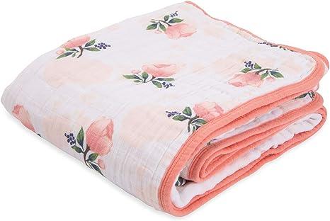 Watercolor Roses Little Unicorn Cotton Muslin Burp Cloth