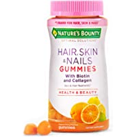 Nature's Bounty Optimal Solutions Hair, Skin & Nails with Biotin and Collagen, 80 Count