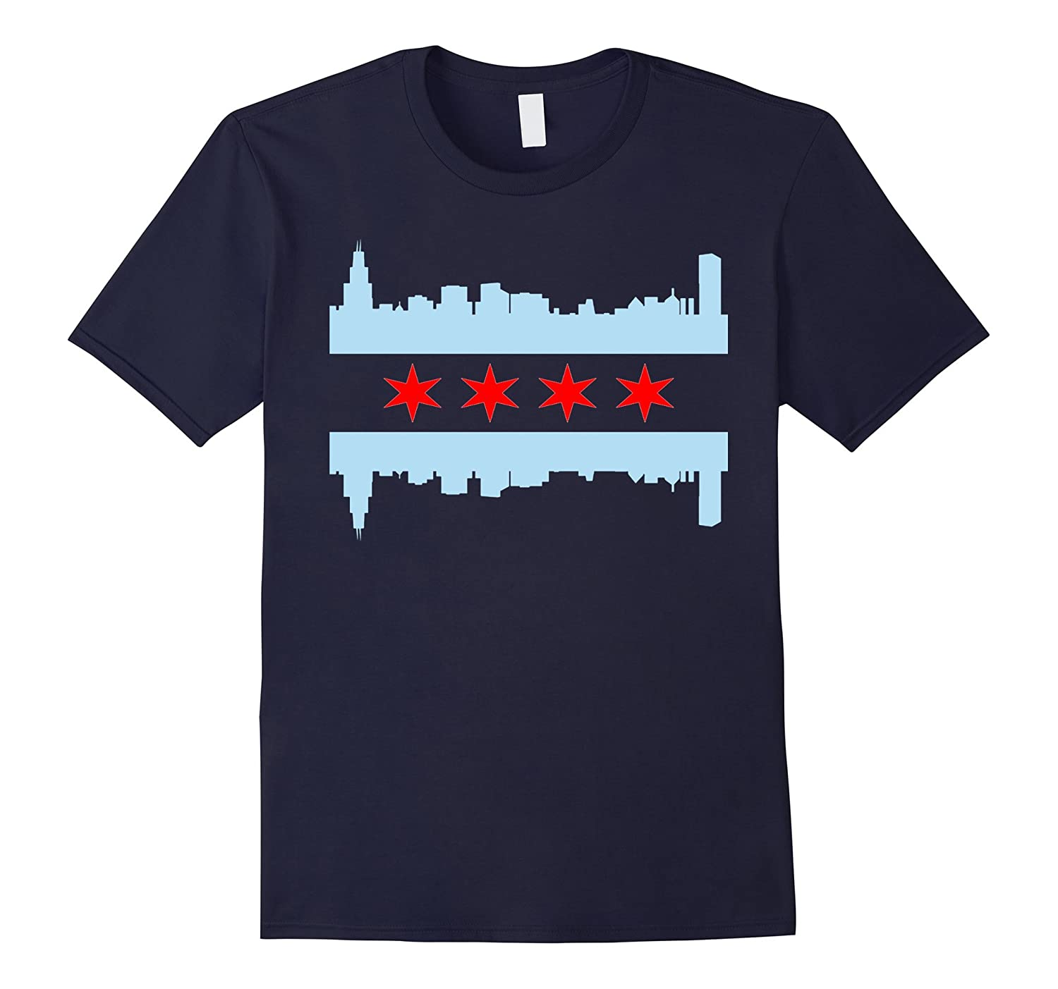Chicago Flag Skyline T Shirt Goatstee