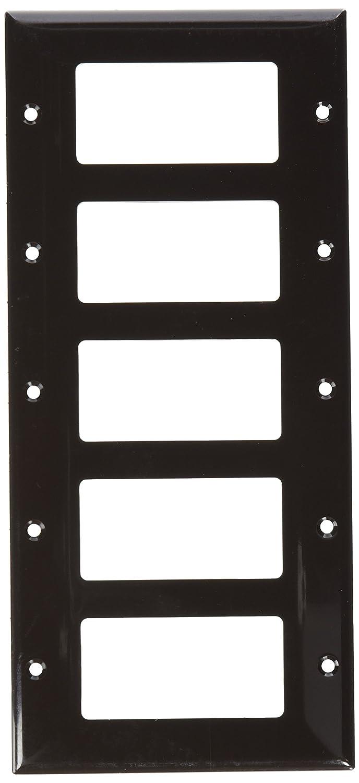 Morris 81152 Lexan Wall Plate 5 Gang Brown Morris Products Decorative//GFCI