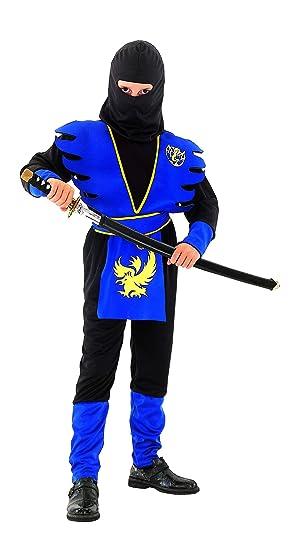 Disfraz azul de ninja para niño: Amazon.es: Juguetes y juegos
