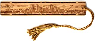 product image for Denver Colorado Skyline - Engraved Wooden Bookmark with Tassel - Also Available Personalized
