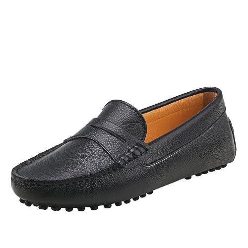 Shenduo Mujer Zapatos de Cuero - Mocasines Casuales Moda Zapatos Planos Mocasín Slip-on para Mujer D7052: Amazon.es: Zapatos y complementos