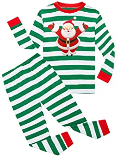 7a76fc852 Dutebare Boys Christmas Pajamas Toddler Clothes Set Cotton Kids Stripe PJS  Sleepwear