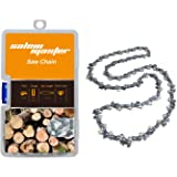 "SALEM MASTER 16 Inch Chainsaw Chains - .050"" Gauge - 3/8 LP Pitch - 56 Drive Links, Semi-Chisel Gas Powered Chainsaw Chain Fits for Craftsman, Echo, Homelite, Poulan, Remington (16)"
