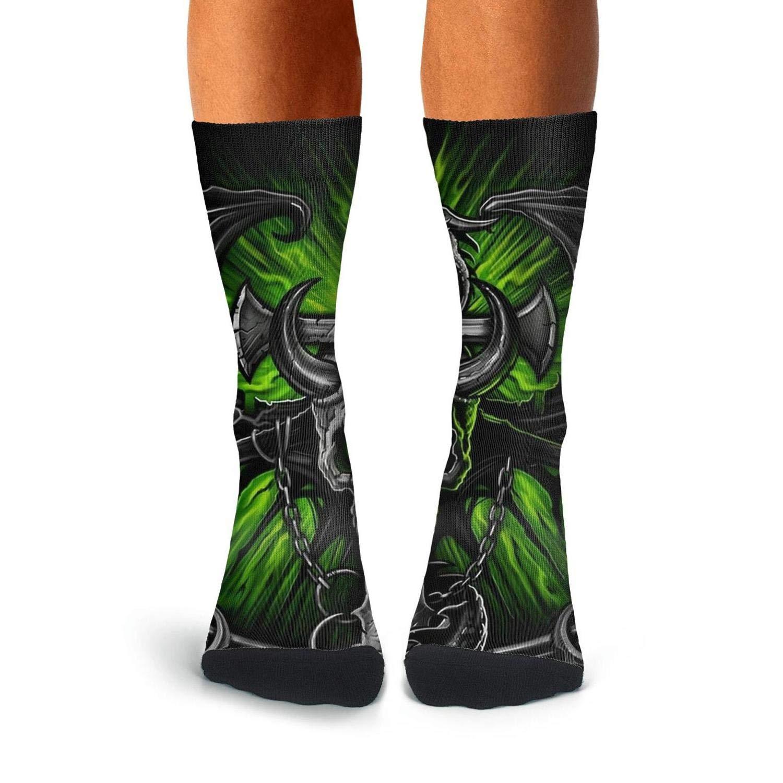 Knee High Long Stockings KCOSSH Gothic Skull Crucifix Crazy Calf Socks Cool Crew Sock For Mens