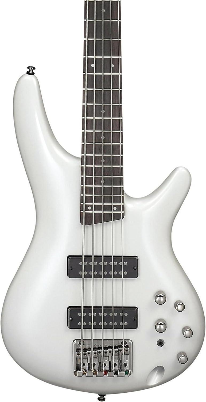 Amazon.com: Ibanez SR305E SR Standard 5-String - Pearl White ...
