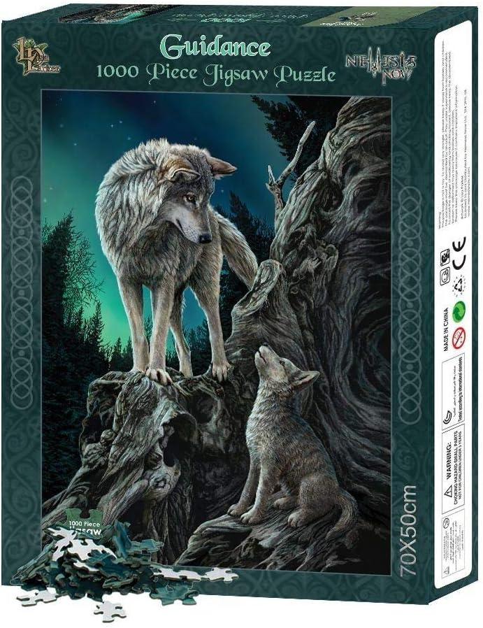 Orientación, lobos con luces del norte 1000 piezas de rompecabezas multicolor - Fantasy - Nemesis Now: Amazon.es: Juguetes y juegos