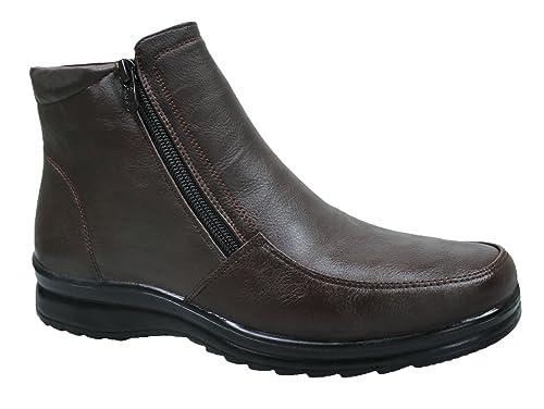 AK collezioni Scarpe stivaletti uomo testa di moro casual invernali  sneakers polacchine con pelliccia interna numero a3496bb498f