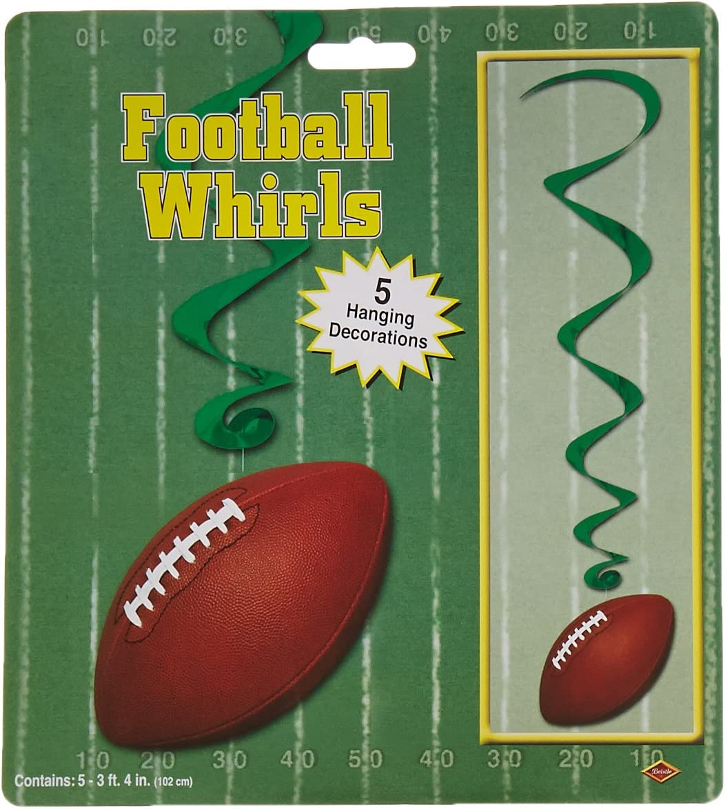 Football Whirls (5/Pkg)