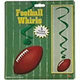Beistle 50229 Football Whirls, 5 per Package, Brown/Green/White