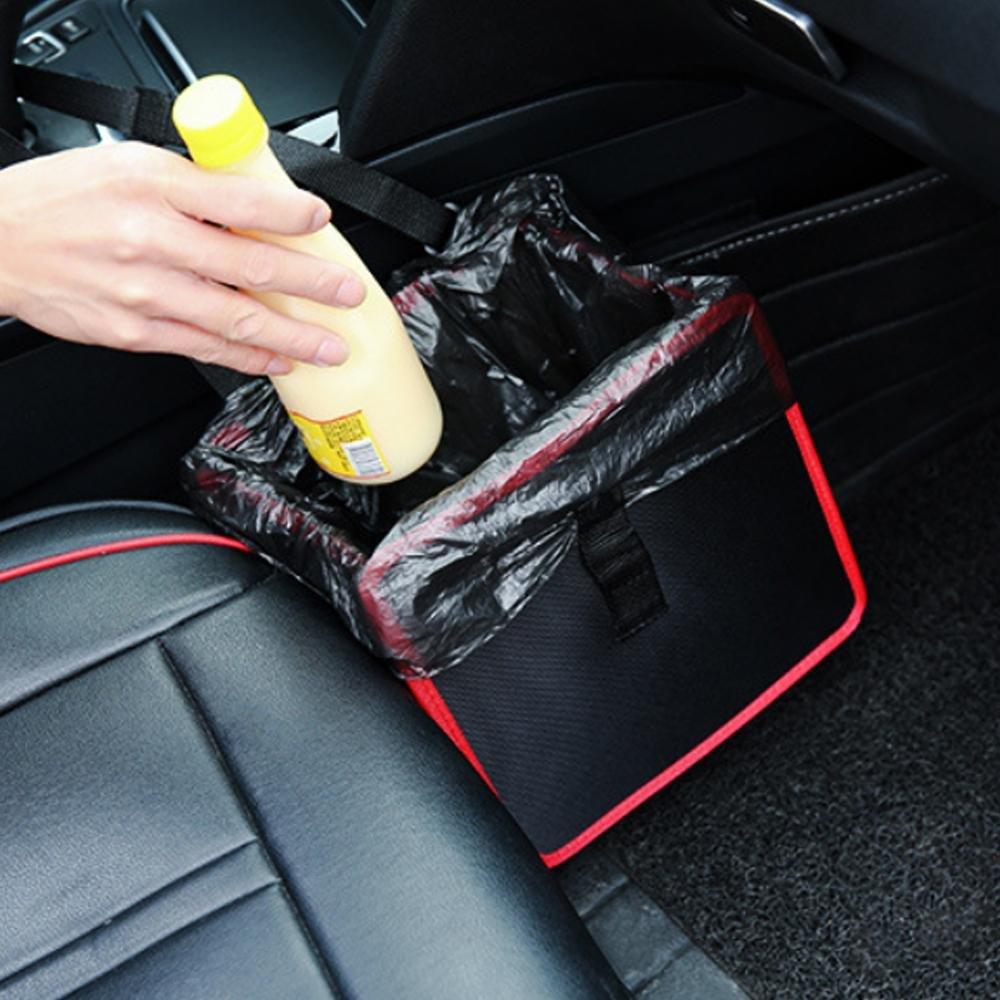 Kobwa - Papelera plegable para coche con asa para colgar