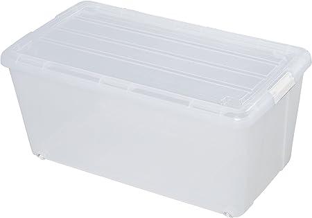 70 litros caja de plástico, caja de plástico transparente, cajas ...