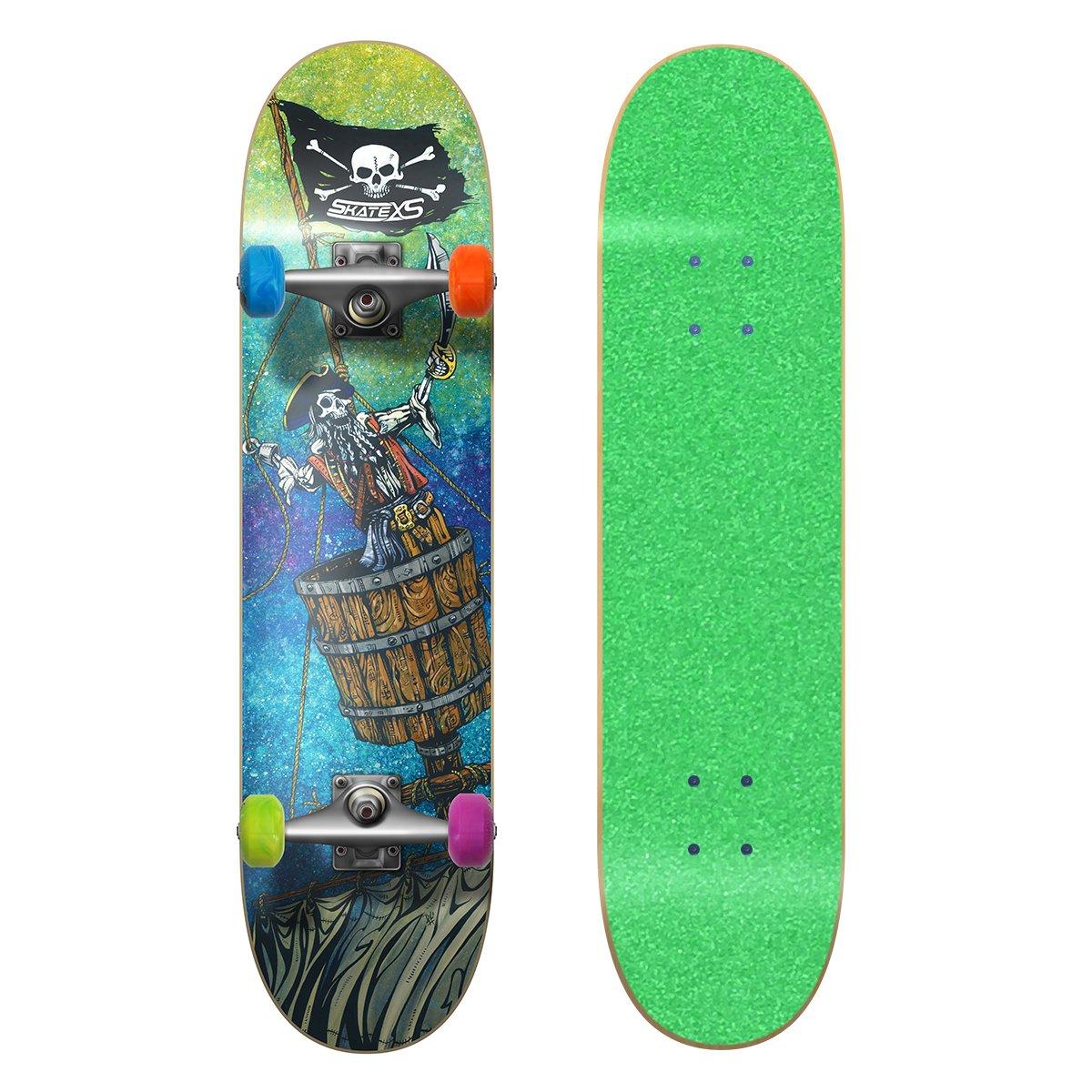 正式的 SkateXS ビギナー 海賊 Grip ストリート Multi-Color スケートボード B01MRTK4TQ 7.0 x 5-7) 28 (Ages 5-7) Green Grip Tape/ Multi-Color Wheels Green Grip Tape/ Multi-Color Wheels 7.0 x 28 (Ages 5-7), 小牛田町:44ef06b7 --- a0267596.xsph.ru