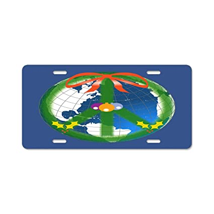 World Peace License Plate Frame Tag Holder