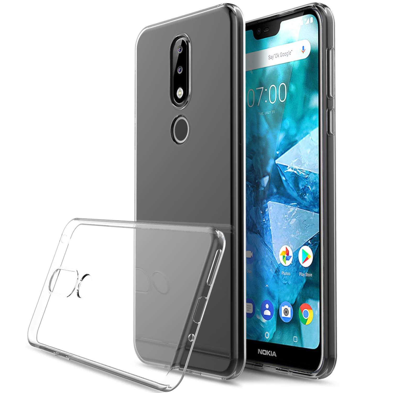 Nokia 7.1 case, KuGi Nokia 7.1 case,[Scratch Resistant] Premium Flexible Soft TPU Case for Nokia 7.1 Smartphone(Clear) Vostrostone