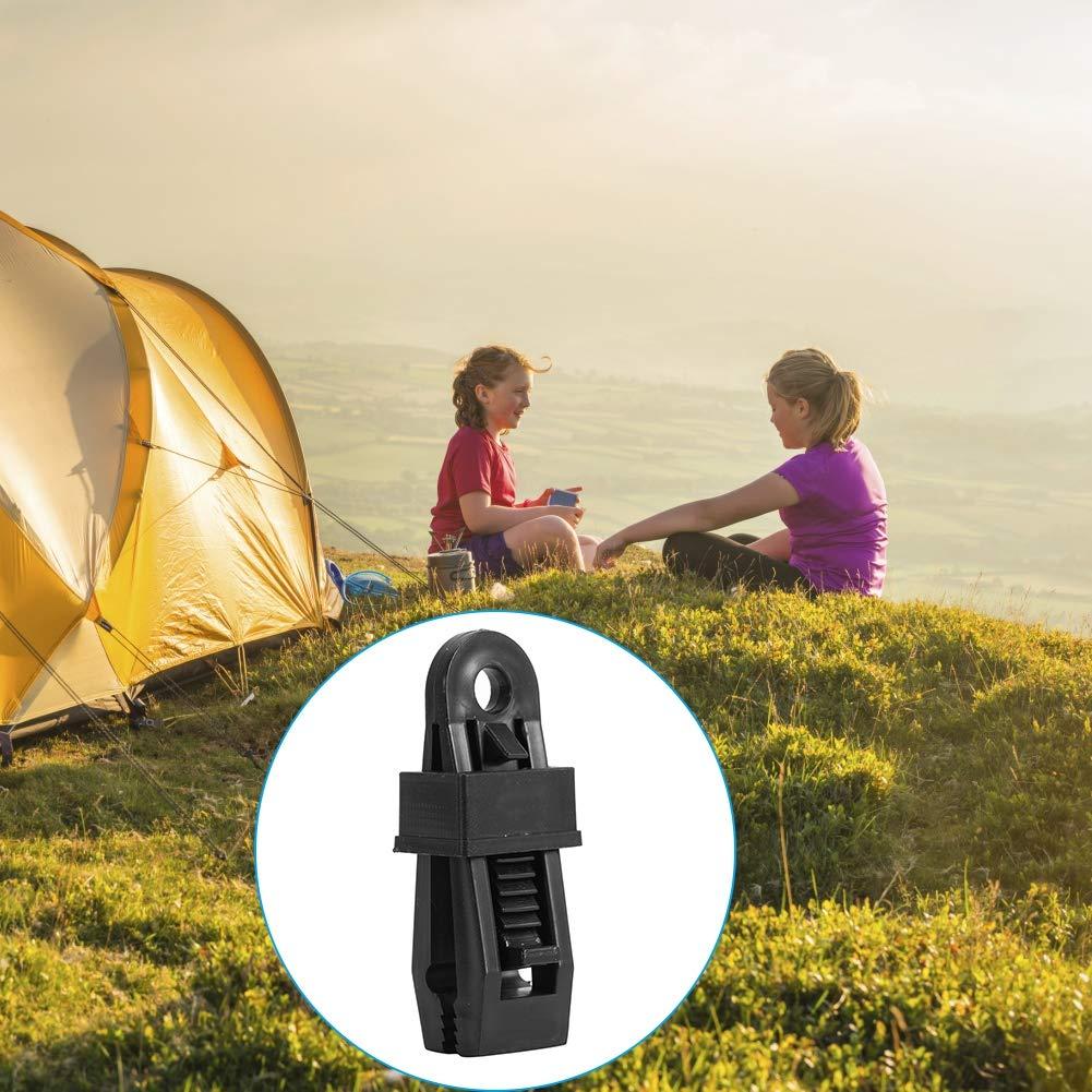 ad alta resistenza di plastica Tende Morsetto Clips pesanti Heavy Duty Locking Tarp Clip per campeggio allaperto GLOGLOW 6pcs Tent Snap
