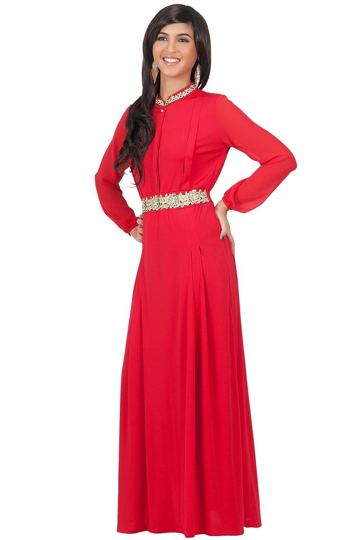 KOH KOH Plus Size Womens Long Sleeve with Sleeves Vintage Formal ...