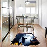 OverDose Halloween Stickers Home Decoration Art Wall Mural 3D Floor Sticker