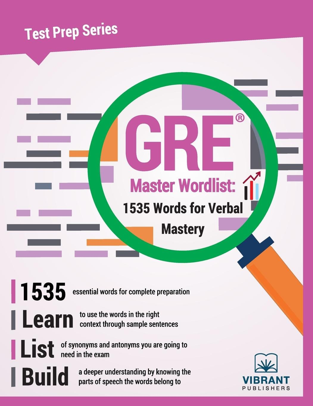 Gre Master Wordlist 1535 Words For Verbal Mastery Test Prep Series