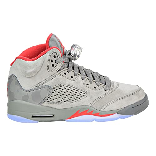 uk availability 1c428 4cd2e Air Jordan 5 Retro Bg (Dark Stucco/University Red, 3.5Y)