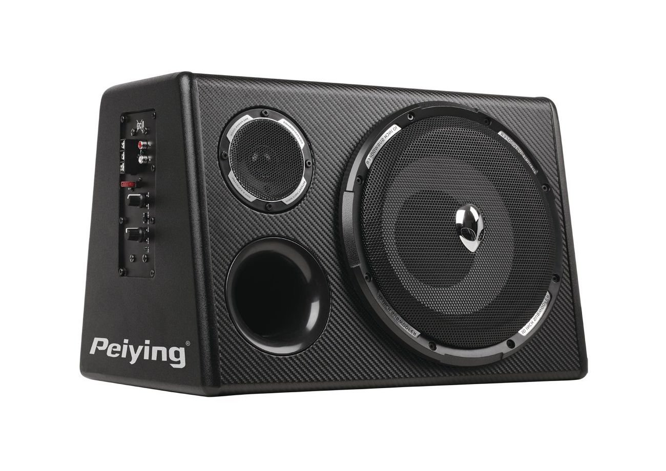 Peiying PY250QA 10 500W Active Subwoofer Built-in Mosfet Amp Amplifier Car Bass