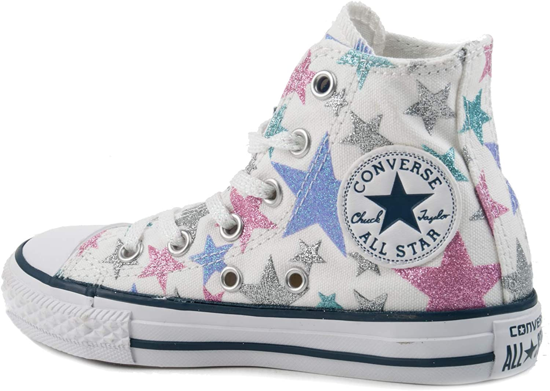 Converse All Star Hi Canvas Graphics WhiteStarAmbient