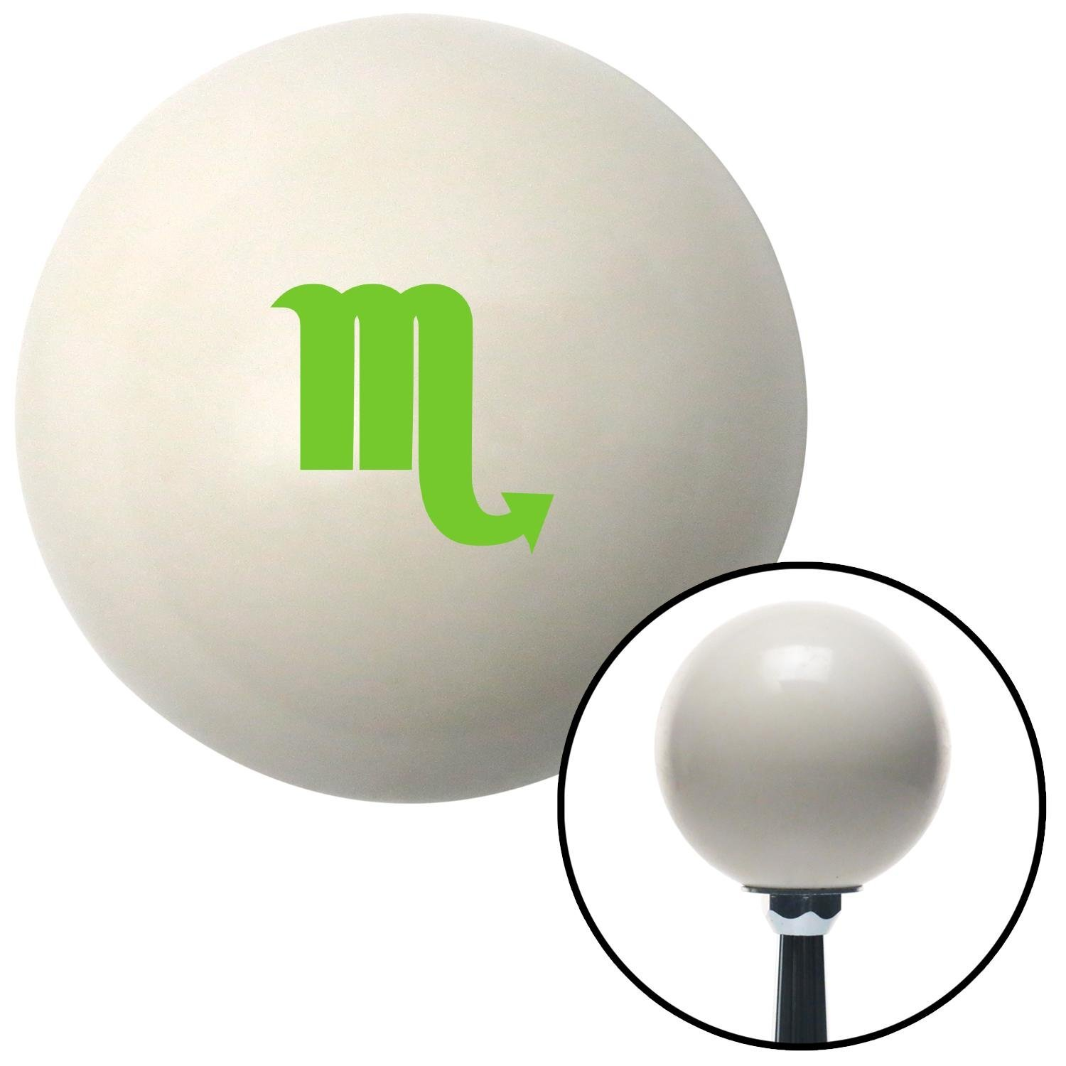 ASCSNX1590267 Green Scorpio Ivory with M16 x 1.5 Insert American Shifter 269235 Shift Knob