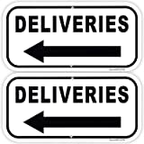 Deliveries Arrow Aluminum Reflective Sign UV Protected And Weatherproof 6 X 14