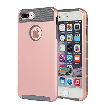 Fund iPhone 7 Plus, Fund iPhone 8 Plus, MTRONX Cover Carcasa Caso Case Choque Absorción Híbrido Duro Suave Ultra Protector TPU Bumper Elegante para ...