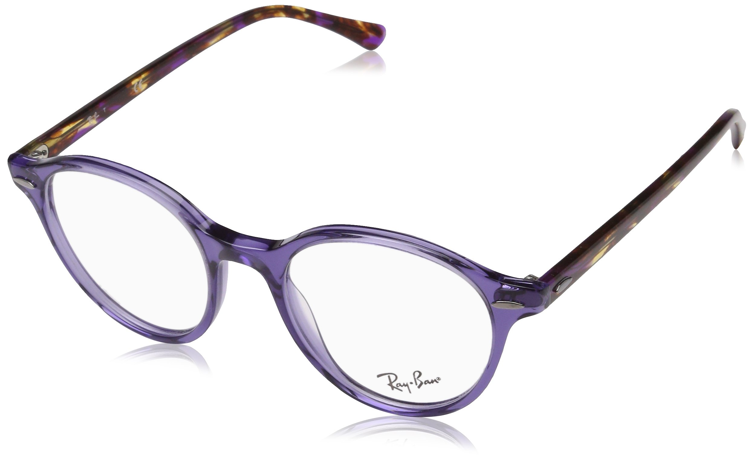 Ray-Ban Unisex 0RX7118 50mm Transparent Violet One Size by Ray-Ban