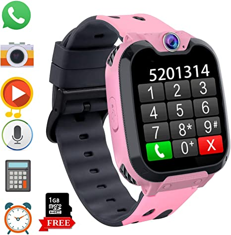 Kids Phone Smartwatch with Games & MP3 Player - 1.54 inch Touch Screen Watch Phone 2 Way Call Music Player Game Funny Camera Alarm Clock Children ...