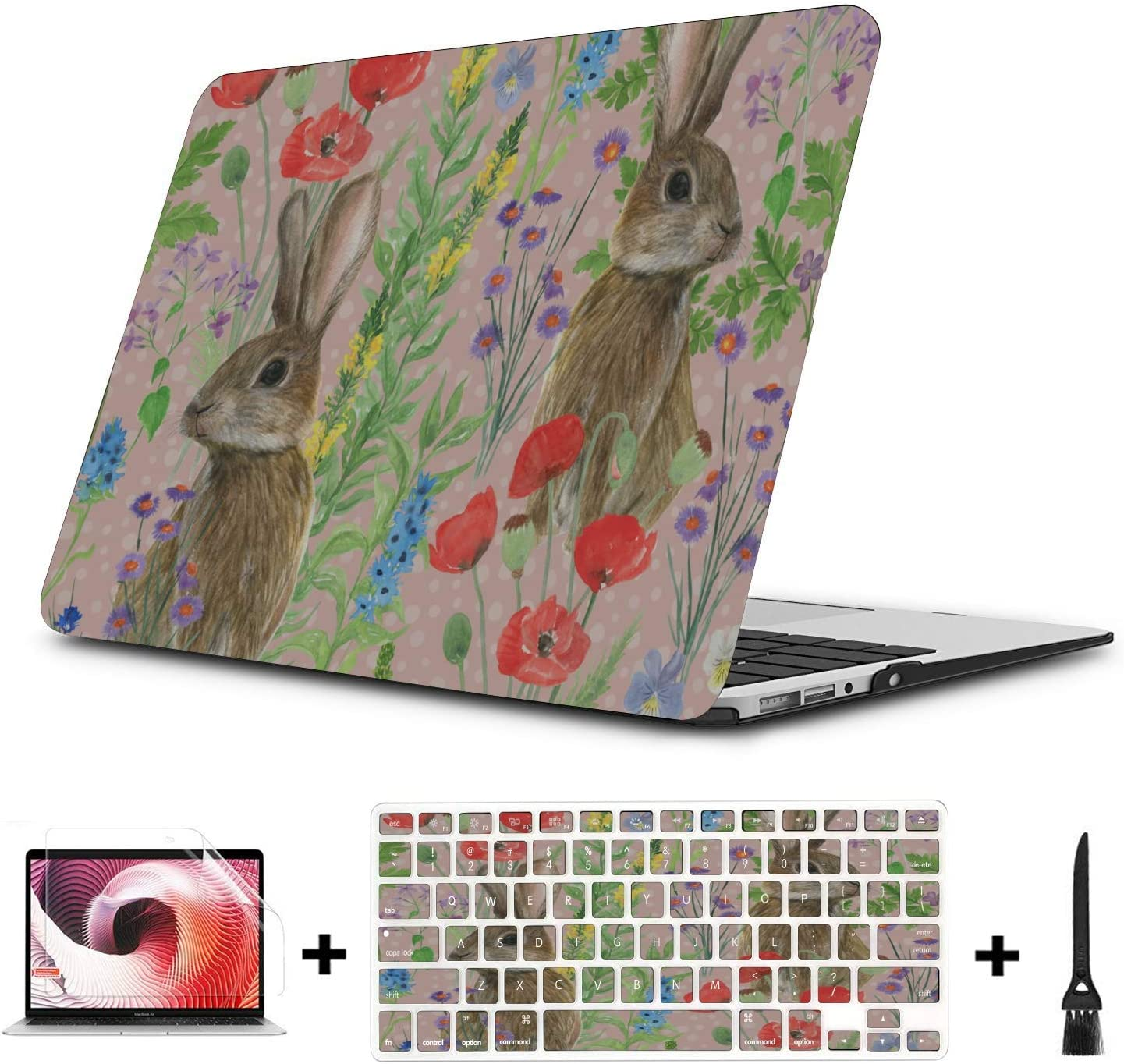 A1534 MacBook Case Sophisticated Cute Cartoon Painting Plastic Hard Shell Compatible Mac Air 11 Pro 13 15 MacBook Pro 15 Accessories Protection for MacBook 2016-2019 Version