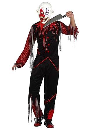 Disfraz de Payaso Asesino Negro - L