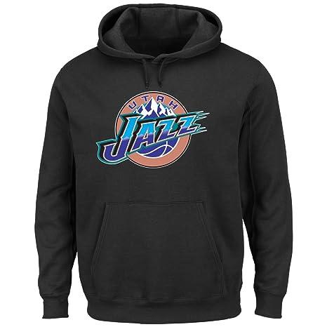 Clothing Sports & Outdoors Majestic NHL Mens Felt Tek Patch Hooded Fleece Sweater