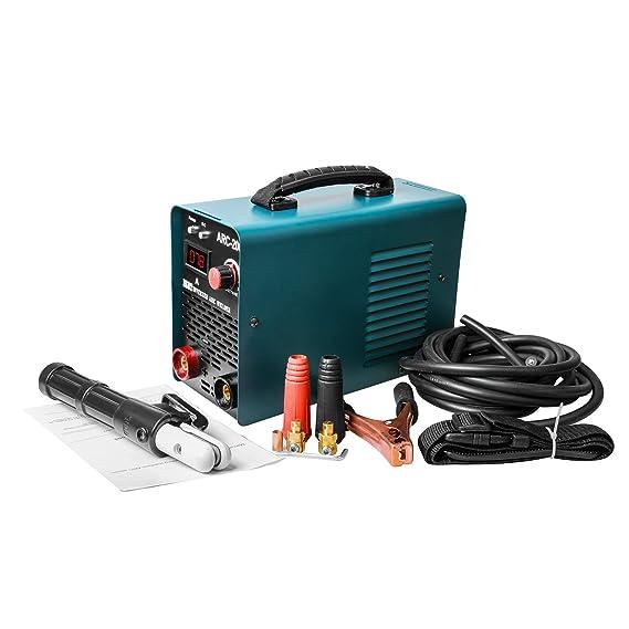 Arc Maquina De Soldar Inverter 220V Electrodo, GOGOLO IGBT 200A Kit de máquina de soldadura portátil Arco soldador inverter rápido que comienza con correa ...