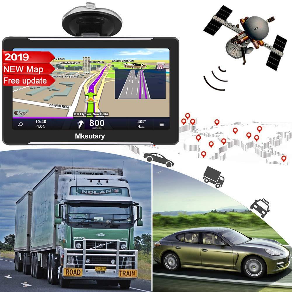 7 Zoll hohe-Helligkeit Kapazitiver Touchscreen 8GB 2D//3D EU Maps Kostenloses Kartenupdate mit POI Sprachf/ührung Navigationsger/äte f/ür Auto Wiederaufladbare LKW PKW Navi GPS Auto Navigation