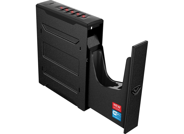 Vaultek Wi-Fi Slider Series Rugged Smart Handgun Safe with Alerts to Smartphone Quick Auto-Open Sliding Door Pistol Safe with Rechargeable Li-ion Battery (Non-Biometric) by Vaultek