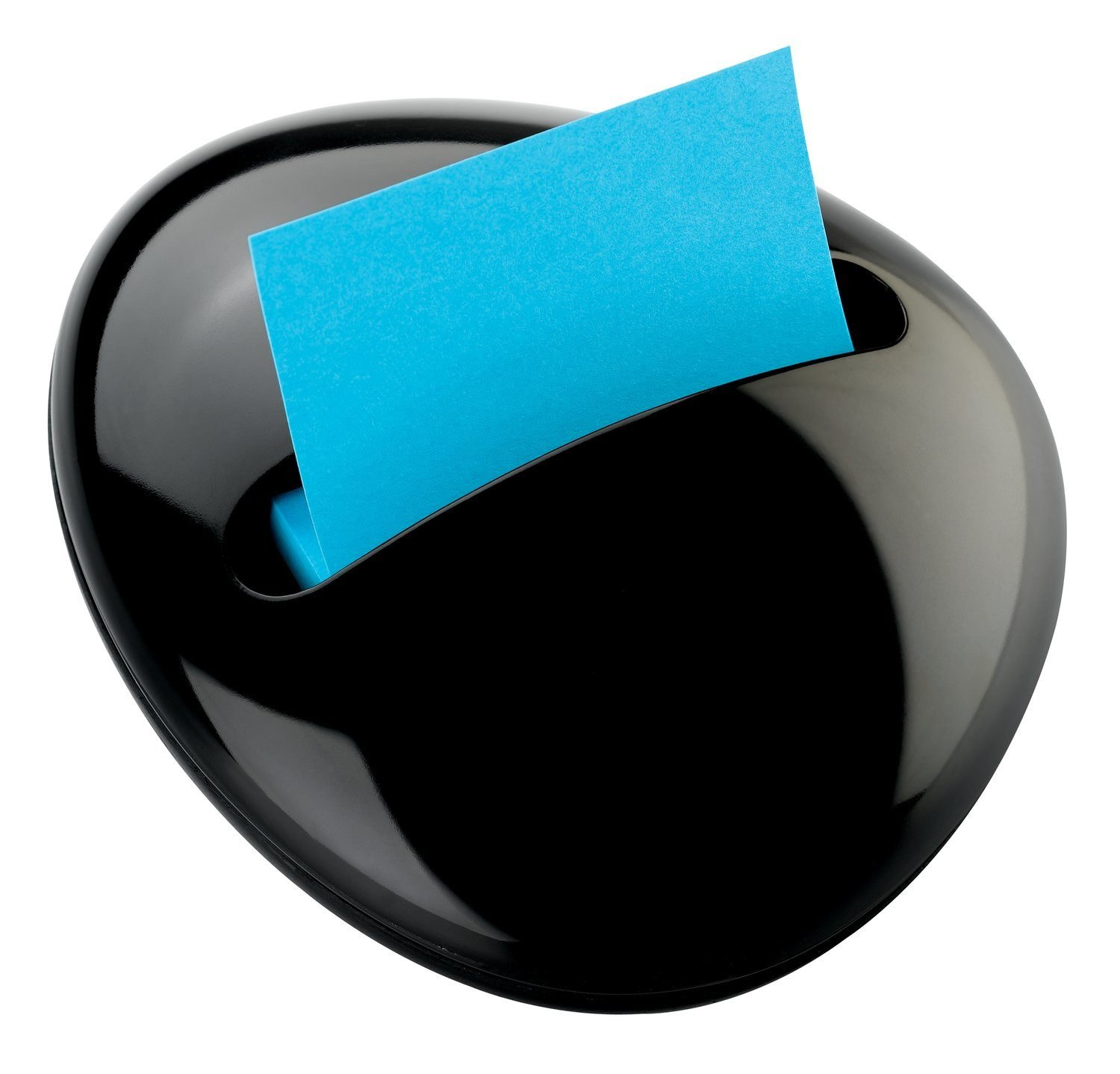 Post-it PBL-330-BK Pop-up Notes Dispenser for 3 x 3-Inch Notes, Black, Pebble Collection by Karim
