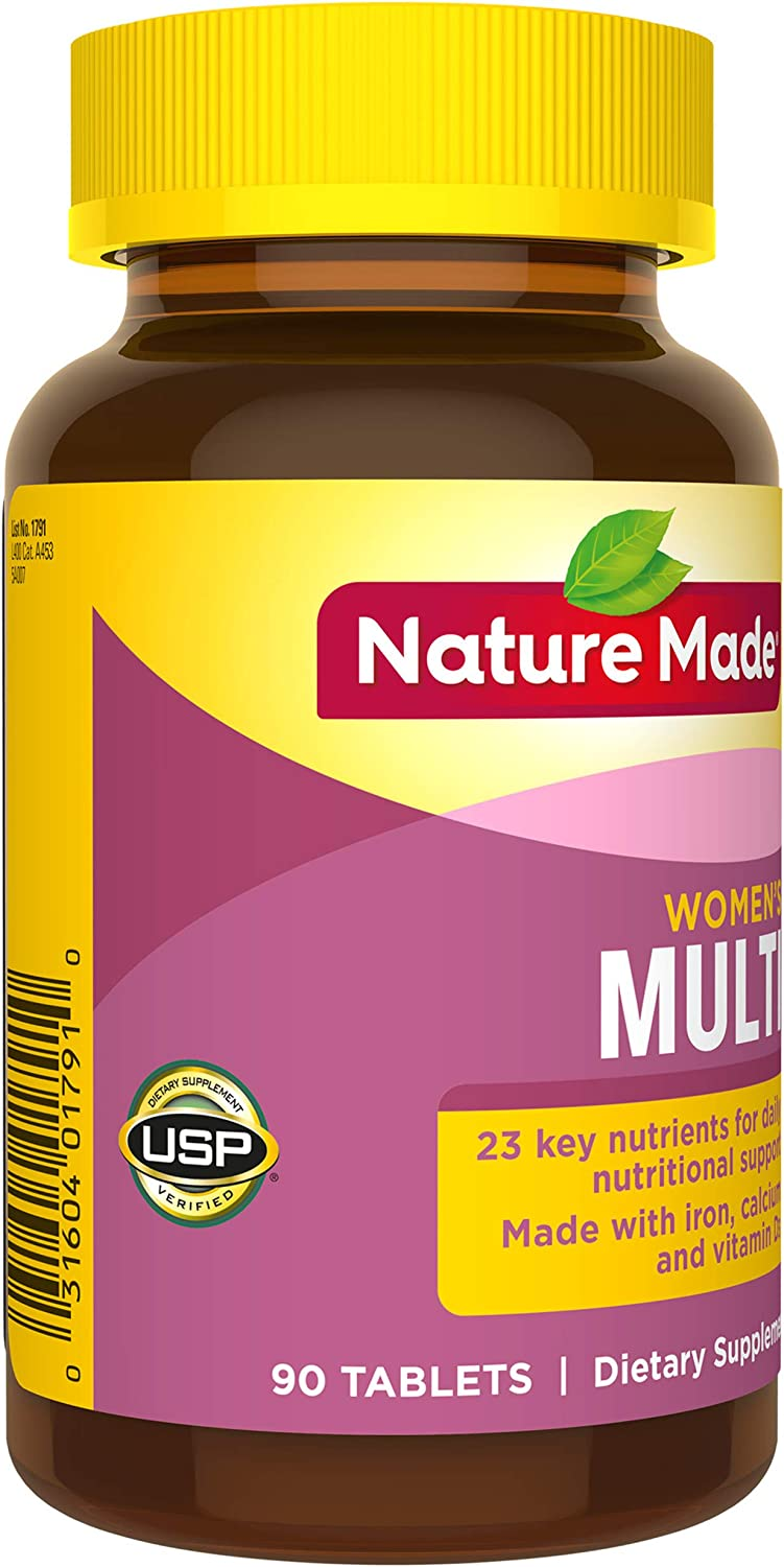 Nature Made® Womens Multivitamin Tablets, 90 Count for Daily Nutritional Support