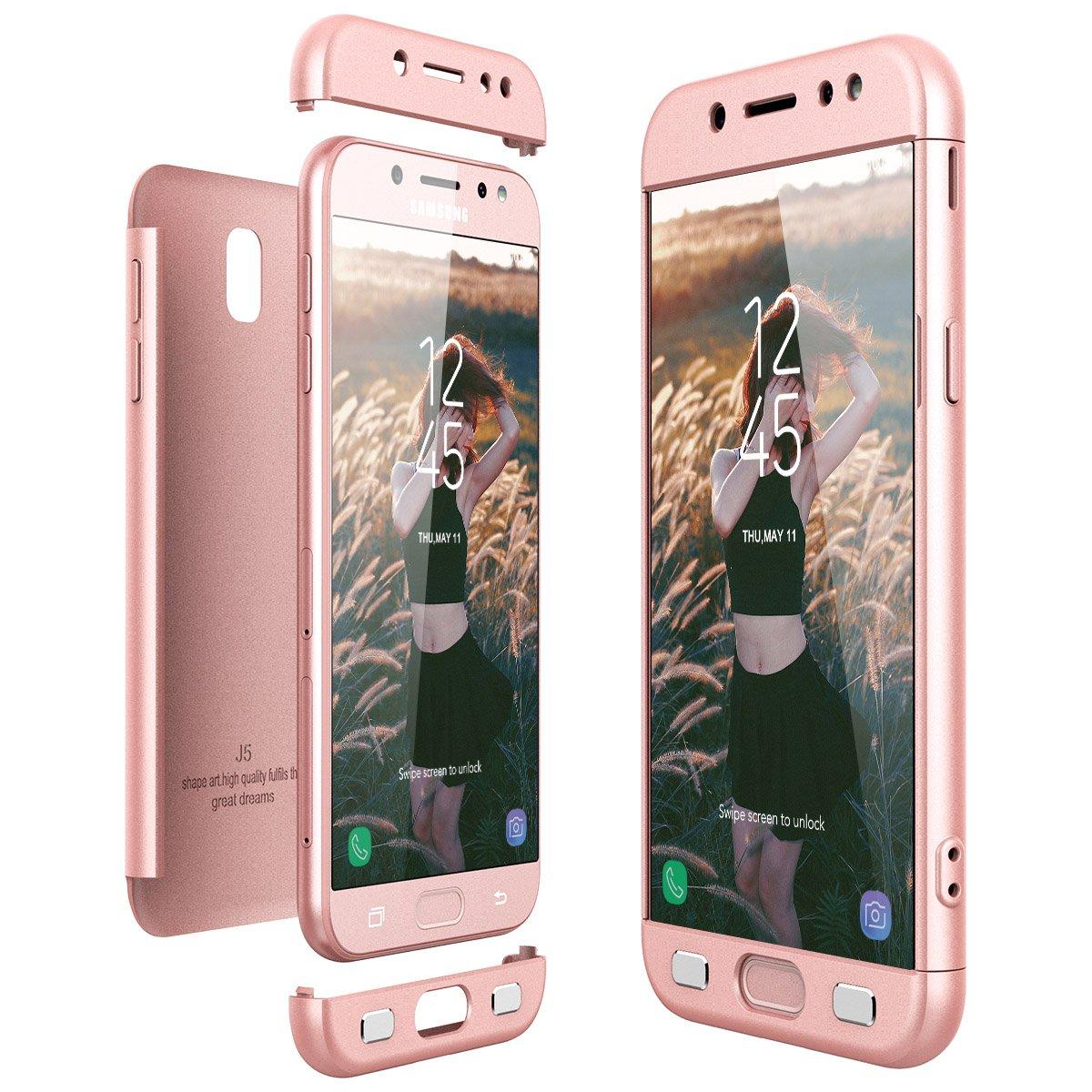 CE-Link Funda Samsung Galaxy J5 2017, Carcasa Fundas para Samsung Galaxy J5 2017, 3 en 1 Desmontable Ultra-Delgado Anti-Arañazos Case Protectora - Oro ...